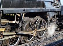 Koła i kontrpara od lokomotywy lub pociągu Zdjęcia Royalty Free