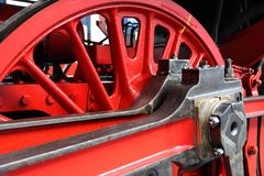 Koła parostatek lokomotywa fotografia royalty free