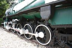 Koła pociąg z powrotem, biel i Fotografia Royalty Free