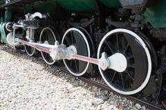 Koła pociąg z powrotem, biel i Zdjęcia Royalty Free