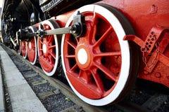 Koła stary lokomotoryczny i elementy przejażdżka Zdjęcie Stock