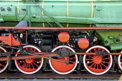 Koła stary lokomotoryczny i elementy przejażdżka Fotografia Royalty Free
