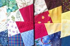 kołdrę patchwork Obrazy Royalty Free