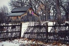 Kołdrowa stajni zima obrazy stock