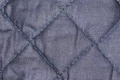 Kołdrowy tkaniny zakończenie fotografia stock