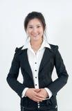 kołnierz azjatykcia biała kobieta Obraz Royalty Free