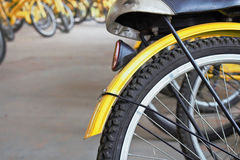 Koło bicykle jechać na rowerze dla czynszu Obrazy Royalty Free
