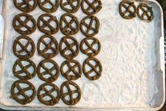 Koło kształta snackKanom gongu Tajlandzcy desery Fotografia Stock