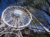 Koło pokazuje cudownego widok na Atlanta obraz stock