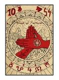 Koło Pomyślność Tarot karta ilustracja wektor