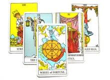 Koło pomyślności Tarot karty Wzrostowej obfitości Dobry omen ilustracji