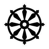 Koło symbol reinkarnacja cykl śmierć i odradzanie Sakralny wszystkie Indiańskie religie znak Samsara -, Obraz Royalty Free