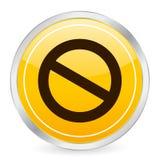 koło znaku zakazu, żółty ilustracji