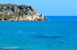 Kołysa w morzu blisko Agrigento, Sicily, Włochy Zdjęcie Stock