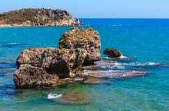 Kołysa w morzu blisko Agrigento, Sicily, Włochy Obraz Stock