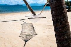 Kołyska na plaży obrazy royalty free