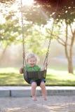 Kołysząca chłopiec Fotografia Stock