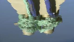 Kołyszące cumownicze linie trawler zdjęcie wideo