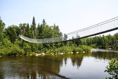 Kołyszący most Zdjęcia Stock