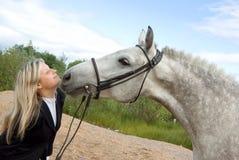 koń dziewczyny Obraz Royalty Free