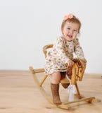 koń dziewczyny krzesło mały rocka Obraz Royalty Free