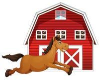 Koń i stajnia ilustracja wektor