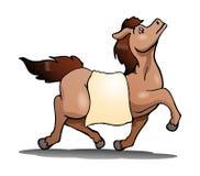 koń na odosobnionym białym tle ilustracja wektor