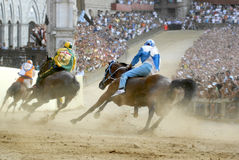 koń race palio s Siena fotografia royalty free