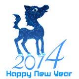 Koń. Szczęśliwy nowy rok 2014 Obrazy Royalty Free