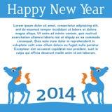 Koń. Szczęśliwy nowy rok 2014. Wektor eps 10. Zdjęcie Stock