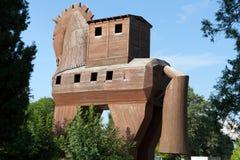 Koń Trojański lokalizować w Troja obrazy royalty free