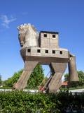 Koń trojański na miejscu antyczny Troja w Canakkale Dardanelles/Turcja zdjęcie royalty free