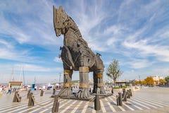 Koń trojański statua obraz stock