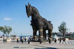 Koń trojański w mieście Canakkale, Turcja obrazy stock