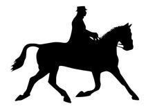 Koń z jeźdzem Fotografia Royalty Free