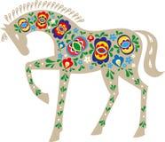 Koń z ludowym projektem ilustracji