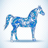 Koń z skrzydłami, wektorowa ilustracja Zdjęcie Stock