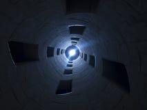 końcówka światła tunel Obrazy Stock