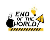 Końcówka światowa wiadomość ilustracja wektor