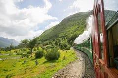 Końcówka światu pociąg w Argentyna Fotografia Royalty Free