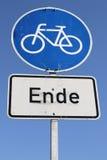 Końcówka cykl ścieżka obraz stock