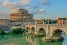 Końcówka dzień w Castel Sant Angelo fotografia stock