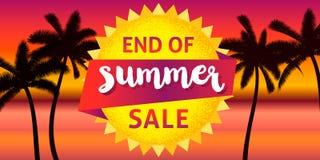 Końcówka lato sprzedaży sztandar ilustracja wektor