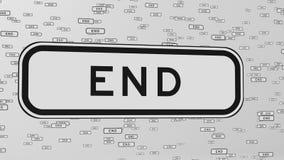 Końcówka ruchu drogowego znaki Unosi się w przestrzeni ilustracja wektor