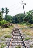 Końcówka stara linia kolejowa obrazy royalty free