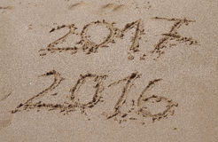 Końcówka 2016, zaczynać 2017 Zdjęcia Stock