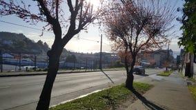 Końcówka zima dzień w Puerto Varas, Chile - obrazy stock