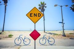 Końcówka znak na Wenecja plaży, Los Angeles, Kalifornia Obraz Royalty Free