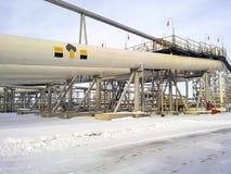 Końcówki fazy divider jest cewkowaty Wyposażenie dla oddzielać wodę od oleju Wyposażeń pola naftowe Zachodni Syberia Zdjęcie Stock
