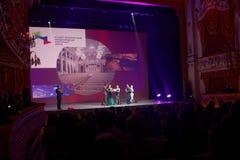 Końcowa ceremonia 4th St Petersburg Międzynarodowy Kulturalny forum Obraz Royalty Free
